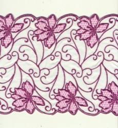 Embroidery microfibre