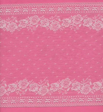 Lace trim rigid - Fushia