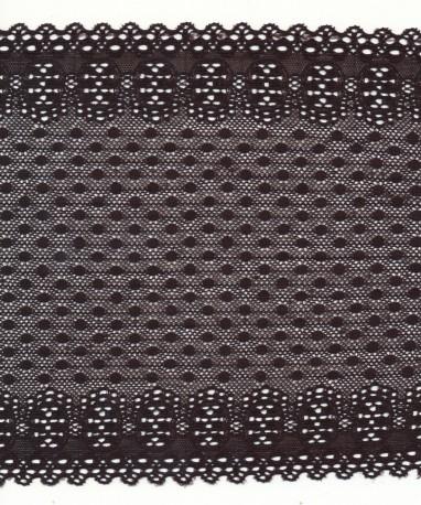 Lace trim rigid - black color